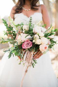 romantic bouquet - photo by Hannah Gaul Photography http://ruffledblog.com/feminine-ethereal-wedding-inspiration