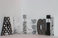 These letters are a perfect addition to your baby's nursery or your child's bedroom décor. Customized for you, each letter is hand cut, painted and