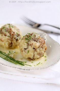Italian Cooking, Italian Recipes, Bread Dumplings, Mushroom Recipes, Main Meals, Pasta, Stuffed Mushrooms, Food And Drink, Yummy Food