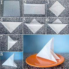 Paper napkin folding instructions - create festive Tischedeko