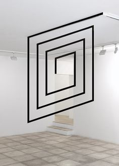 FELICE VARINI /optical illusion installation //pulling from an existing line on the ceiling