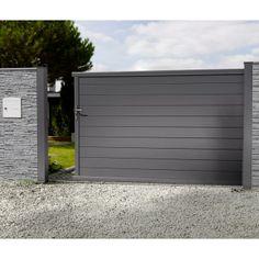 Portail aluminium coulissant portail aluminium for Portail alu castorama