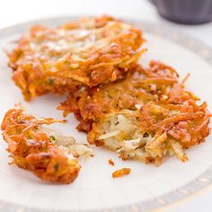 For truly crisp latkes, we had to eliminate the one thing potatoes are loaded with.