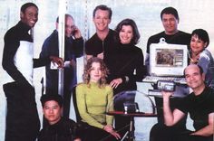 The cast of Star Trek Voyager back in 1994.