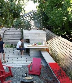 Covered Outdoor Kitchens, Small Outdoor Kitchens, Outdoor Sinks, Outdoor Kitchen Patio, Pizza Oven Outdoor, Outdoor Living, Outdoor Decor, Modern Landscaping, Outdoor Landscaping