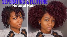 Separate & Fluff for Volume   Twist Out Take Down on Natural Hair ft Rap...