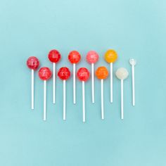 ombre lollipops graphic design photography ad campaign