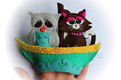 The Owl and The Pussycat Finger Puppet Patterns. by EbonyShae