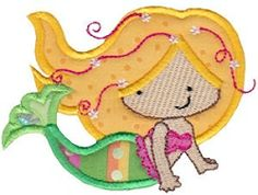 Magical Mermaids 3 Applique, SWAK Pack - 2 Sizes! | $7.95 Swak Packs | Machine Embroidery Designs | SWAKembroidery.com