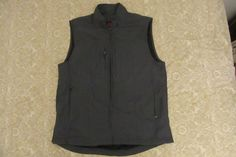 SCOTTeVEST Men's Travel Vest multi Pockets Sz M gray Technology Enhanced TEC #SCOTTeVEST #Vest