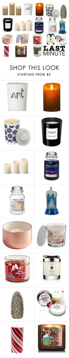 """""""The Perfect Gift for Your Acquaintance Coworker."""" by bullseyex ❤ liked on Polyvore featuring Bella Freud, Luminara, Bond No. 9, Thierry Mugler, Improvements, Yankee Candle, SONOMA Goods for Life, Jo Malone and Maison La Bougie"""