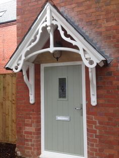 E. R. Norton & Son : English Period Style expertly crafted, traditionally made, hand crafted furniture, joinery and porches Barn House, Plinth Blocks, House Front, Green Oaks, Door Canopy Kits, Barn House Plans, Hand Crafted Furniture, Green Front Doors, Porch