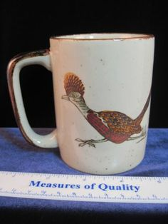 Otagiri Vintage Roadrunner Coffee Mug Cup Stoneware Cactus Pottery Browns | eBay