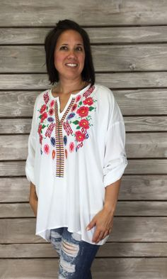 Indian Summer Embroidered Tunic - FINAL SALE