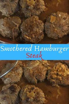 Smothered Hamburger Steak #Smothered #Hamburger #Steak