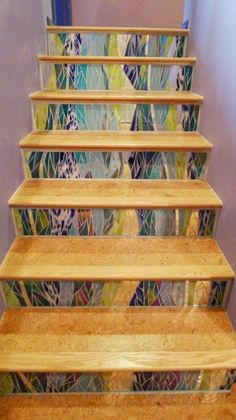 More flowy stair risers by Jennifer Kuhns