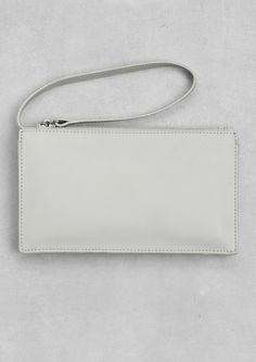 Minimal + Classic: Structured leather clutch | Other Stories