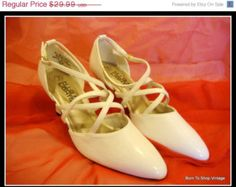 1940s style white shoes - Google Search