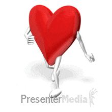 ID# 13292 - Heart Walking - PowerPoint Animation