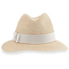 67c0a8702e8 Inverni Indi Straw Fedora Hat (985 BRL) ❤ liked on Polyvore featuring  accessories