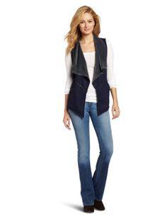Mod-O-Doc Women's Denim Velour Reversible Vest