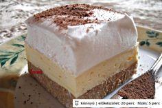 Nadýchaný vanilkový řez s vůní podzimu