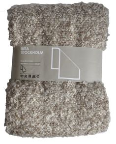 """Ikea STOCKHOLM Throw, Soft Mohair Wool Blend Blanket Brown-Beige 67x51"""" Couch Throws"""