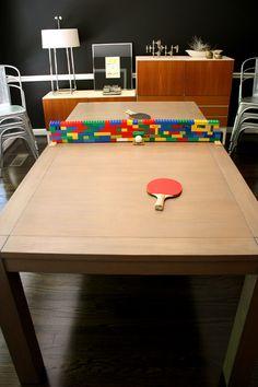 Lego ping pong table idea