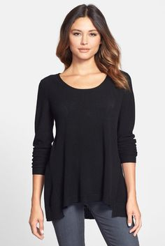Scoop Neck Merino Sweater (Petite)