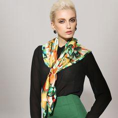 Swallow design twill silk scarf 90x90 women's neckwear BAOSHIDI 1031140314