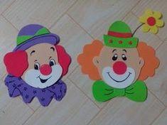 Clown Crafts, Circus Crafts, Carnival Crafts, Carnival Themed Party, Carnival Themes, Circus Theme, Circus Party, Foam Crafts, Diy And Crafts