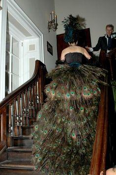 Bad-ass burlesque peacock train