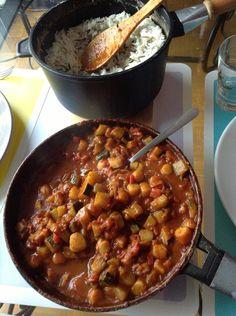 Curry de noix de saint Jacques et riz sauvage