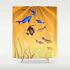 Under The Sea V2 Shower Curtain