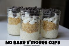 No Bake S'mores Cups