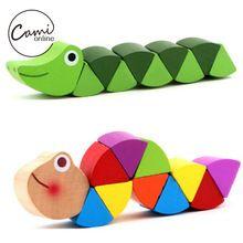 Brinquedos Bonitos do bebê New Madeira Transformável Crocodilo Lagartas Os Dedos Flexíveis de Formação Inteligência Puzzles Brinquedo Educativo(China (Mainland))