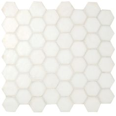 White Hexagon - Iridescent Glass Mosaic - Wall & Floor Tiles | Fired Earth