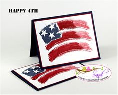 New Video for a FLAG CARD – and updates American Flag homemade using Stampin'Up! Stamp set Work of Art!!!!