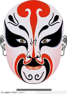 Facial design of Peking Opera