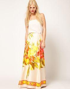 Maxi falda flores - Comprar en Como Abeja al Panal -