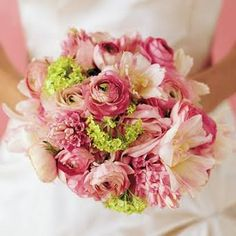 Pastel-Colored Wedding Bouquets - Wedding Flowers
