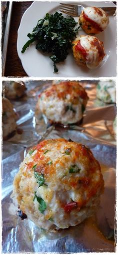 Chicken Parm Meatballs (use flax meal instead of panko crumbs & use a nut flour instead of white flour)