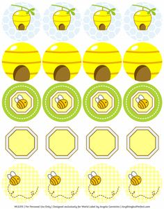 This really cute printable Bumble Bee baby shower set designed by Angela of Anythingbutperfect.com is FREE to download.  This is the BLUE set, see the Baby Shower Labels in PINK set for girls. Printables are in fillable / editable PDF templates for easy customizing and printing on you laser and inkjets.To ...