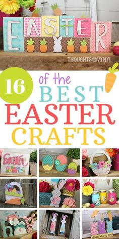 16 of the cutest wooden Easter Crafts in one spot! Easy Easter Crafts, Easter Projects, Fun Crafts For Kids, Crafts To Do, Wood Crafts, Easter Ideas, Hoppy Easter, Easter Gift, Easter Bunny