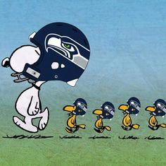 Lets Go Team!  Snoopy loves the Seahawks....