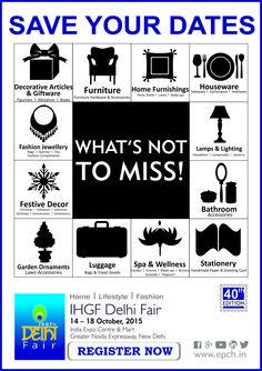 Product Categories at The IHGF Delhi Fair, Autumn 2015 #home #lifestyle #fashion #tradeshow