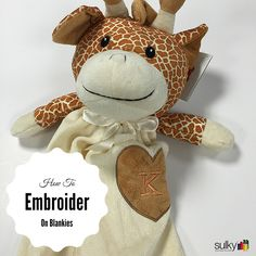 How to Embroider on Blankey Buddies | Machine embroidery tips | Sulky stabilizers | Free embroidery tutorial | Baby blankets