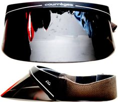Brand: Courreges Model: Visor Circa: 70's Made in: France Condition: - Frame: 10/10 - Lenses: 9/10 Color: - Frame: Black/Gray - Lenses: Black Size: - Horizontal Width: 170mm (6 ½ in.) - Vertical...