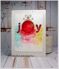 Hi there... I would like to share with you a card I have made with water colouring.I just love...