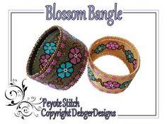 Blossom Bangle-Beading Pattern Tutorial - via @Craftsy